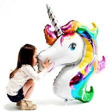 Unicorn Head Foil Balloon Childrens Birthday Party Decoration Kids Girls Gift