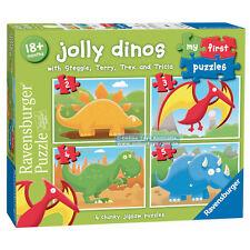 NEW!! Ravensburger Jolly Dinos First Puzzle Dinosaur Hobbie Toy Kids 18 months +