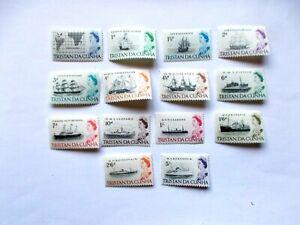 TRISTAN da CUNHA: 1965 Q Elizabeth II Ships 14 stamps to 10/s U/M Sg71/83
