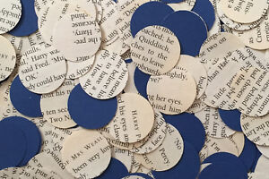Circle Wedding Table Top Confetti/Decoration-Harry Potter & Blue Paper-Ravenclaw