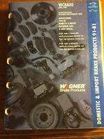 1998 Wagner Domestic Import  Brake Products Catalog 1981-1991