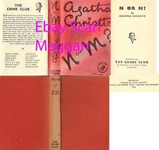 Agatha Christie  N OR M ?  1st w/fdj 1941 Collins Crime Club