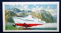 Bergen Stavanger Hydrofoil  Ferry  VINGTOR    Vintage Colour Card