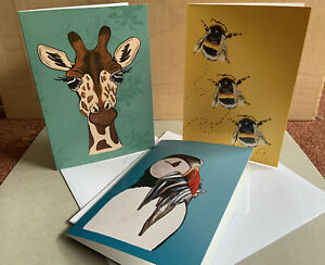 Birthday Card Bundle (X3) Original Designs Great For Any Occaison FREE POSTAGE