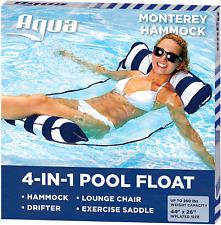 Aqua 4-in-1 Monterey Hammock Inflatable Pool Float, Multi-Purpose Pool Hammock