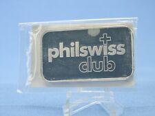 Silber Barren Philswiss Club   1 Oz. 999 Silber verschweißt