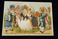 Vintage Antique Victorian Trade Card Acme Soap Groceries Farmer Village NY