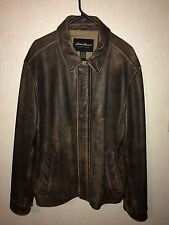 Eddie Bauer Distressed Leather Jacket