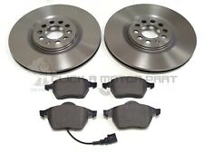 VW GOLF MK4 2.8 V6 4MOTION FRONT 2 VENTED 312MM BRAKE DISCS AND MINTEX PADS SET
