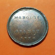 1774 TOKEN UK BRONZE MARQUIS GRANBY 26 mm by JOHN KIRK MAGAZINE GLOSSY british