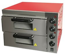 """Full Stainless Steel Body New Pizza Oven Double Deck Electric Stone Base 2x16"""""""