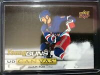 2019-20 UD Young Guns Canvas Rookie Adam Fox