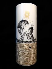 Raymond Peynet /Rosenthal (Germany) Studio Linie Fine Porcelain Tubular Vase Mcm