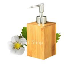 Soap Dispenser Pump Wood Bamboo Bathroom Kitchen Lotion Sanitize Storage Bottle
