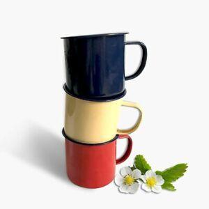 Enamel Mug Cup Vintage Metal Nostalgic Creative Beer White Coffee Friends Drinkw