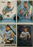 ✺Signed✺ 4 x Valentine Holmes (Sharks) Lot of NRL Rugby League cards