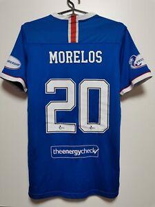 SIZE M GLASGOW RANGERS 2020-2021 HOME FOOTBALL SHIRT JERSEY Morelos #20