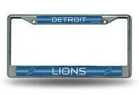 NFL Detroit Lions, Metal License Plate Frame (Deluxe Chrome)