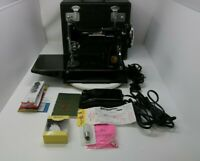 Vintage 1938 Sewing Machine SINGER Featherweight 221-1 Case Accessories