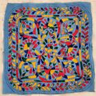 """13"""" x 13"""" Vintage Rabari Throw Embroidery Ethnic Tapestry Tribal Wall Hanging"""