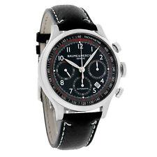 Baume & Mercier Capeland Mens Black Dial Swiss Automatic Chronograph Watch 10001