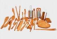Olive Wood Cooking Utensils - Handmade Wooden Kitchen Accessories - SkandWood
