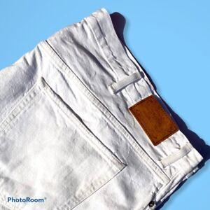 Mens White Ralph Lauren Jeans W50B L32 Zip Fly