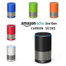 Skin to Amazon ECHO 2nd Gen 2 Generation Alexa CARBON Fiber 3D Wrap Cover Decals