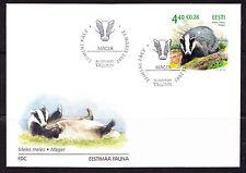 Estonia 2007 Estonian Fauna - The Badger FDC