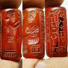 Carnelian stone near Eastern very old cylinderseal sassanian bead #55