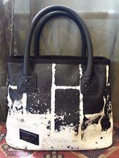 L.A.M.B. Gwen Stefani BLACK/WHITE Brick graphic Designed handbag RARE