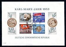 DDR 1953 BLOCK9BYII gestempelt gute WZ TYPE 180€(K7660