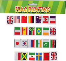 BUNTING Flags World Cup Multination Country International 25 Large Flags