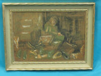 SUPERB SIGNED ISAAC AMITAI MID CENTURY ABSTRACT EXPRESSIONIST PAINTING ON BOARD