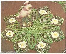 Crochet Cala Lily Doilie Pattern Flowers #20 Crochet Cotton 2 Sizes