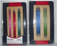 KnitPro Zing Nadelspiel / Strumpfstricknadeln 15 cm - 5 Nadelstärken je 5 Nadeln