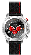 LUXURY CHRONOGRAPH Cavadini Watch Extravagant Red-Black Boomerang New kollektio
