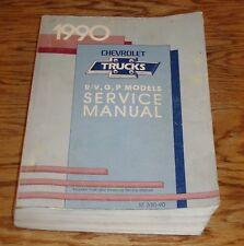 Original 1990 Chevrolet R/V G & P Truck Van Models Shop Service Manual 90 Chevy