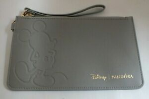 New & Unused Boxed Disney Grey Mickey Mouse Bag Purse Clutch Wristlet by Pandora
