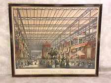 Antique 1851 Great Industrial Exhibition Lithograph Plate 2 The Foreign Nave
