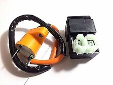GY6 RACING IGNITION COIL + 6 PIN CDI BOX PERFORMANCE ORANGE ROUND PLUG GO KART