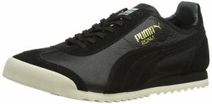 Puma ROMA Slim Leather BLACK Size UK 10.5 2013 LIMITED EDITION 100% Authentic