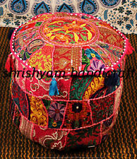 """Handmade Bohemian Patch Work Ottoman Traditional vintage Indian Pouf Cover 22"""""""