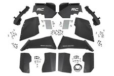 Rough Country Front/Rear Inner Fender Liner Kit-Black, Jeep Wrangler JK; 10511