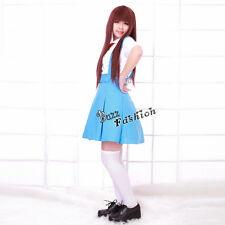 Anime Neon Genesis Evangelion EVA Rei Ayanami Blue Dress Women Cosplay Costume