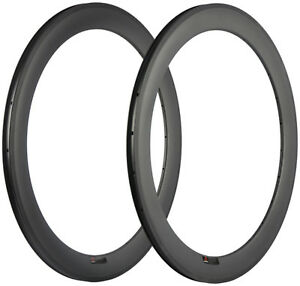 50mm Carbon Rim 23mm Clincher Rim Road Bicycle/Bike Race Rim 700C Bicycle 2pcs