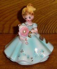 "Vintage Ceramic Birthday Girl Figurine - Josef Originals - June Pearl - 4"""
