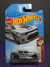 2018 Hot Wheels '15 DODGE CHARGER SRT in SILVER - HW Muscle Mania 3/10 Long Card