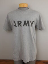 US ARMY PT Physical Fitness IPFU Gray T-SHIRT S/S Size Large