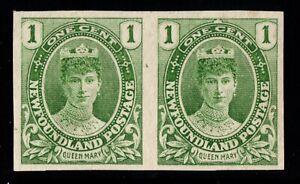 #104a pair Newfoundland Canada mint no gum well centered RARE